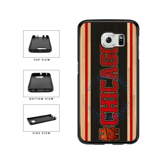 Basketball Team Hashtag Chicago #Chicago TPU Rubber SILICONE Phone Case Back Cover For Samsung Galaxy S6 G920 includes BleuReign(TM) Cloth and Warranty Label