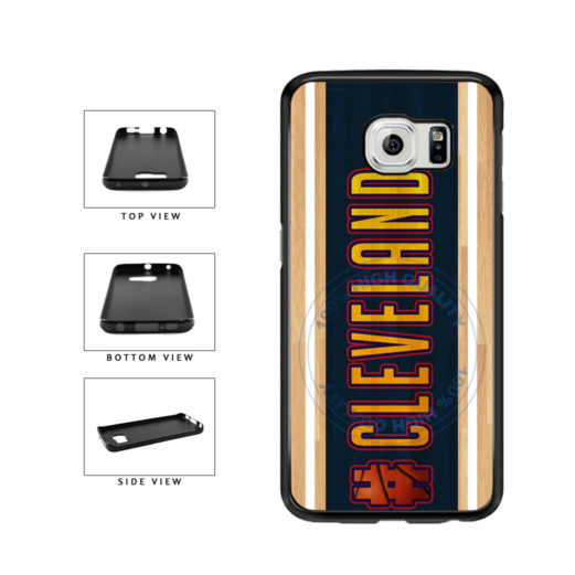 Basketball Team Hashtag Cleveland #Cleveland TPU Rubber SILICONE Phone Case Back Cover For Samsung Galaxy S6 G920 includes BleuReign(TM) Cloth and Warranty Label