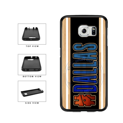 Basketball Team Hashtag Dallas #Dallas TPU Rubber SILICONE Phone Case Back Cover For Samsung Galaxy S6 G920 includes BleuReign(TM) Cloth and Warranty Label