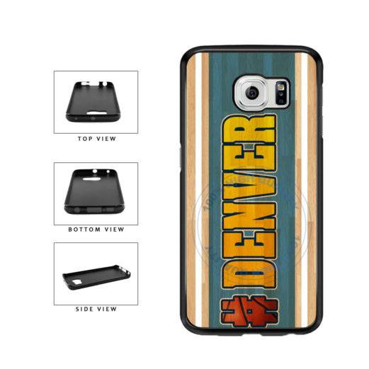 Basketball Team Hashtag Denver #Denver TPU Rubber SILICONE Phone Case Back Cover For Samsung Galaxy S6 G920 includes BleuReign(TM) Cloth and Warranty Label