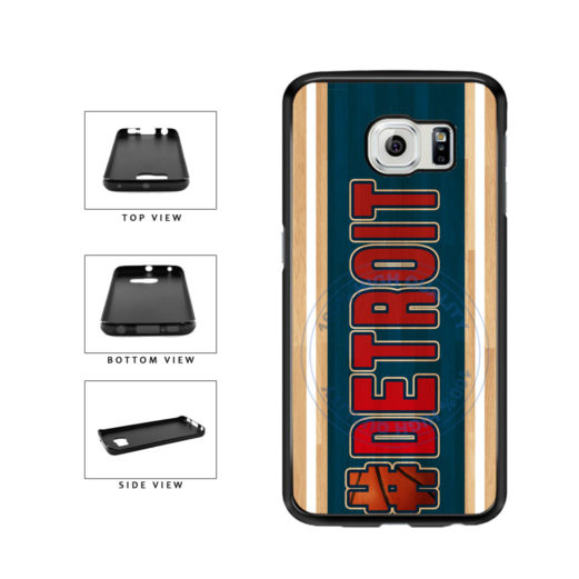 Basketball Team Hashtag Detroit #Detroit TPU Rubber SILICONE Phone Case Back Cover For Samsung Galaxy S6 G920 includes BleuReign(TM) Cloth and Warranty Label