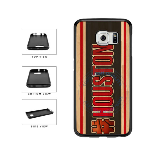 Basketball Team Hashtag Houston #Houston TPU Rubber SILICONE Phone Case Back Cover For Samsung Galaxy S6 G920 includes BleuReign(TM) Cloth and Warranty Label