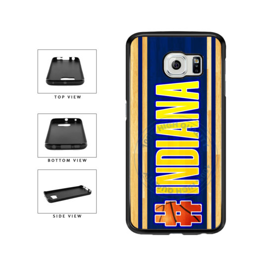 Basketball Team Hashtag Indiana #Indiana TPU Rubber SILICONE Phone Case Back Cover For Samsung Galaxy S6 G920 includes BleuReign(TM) Cloth and Warranty Label