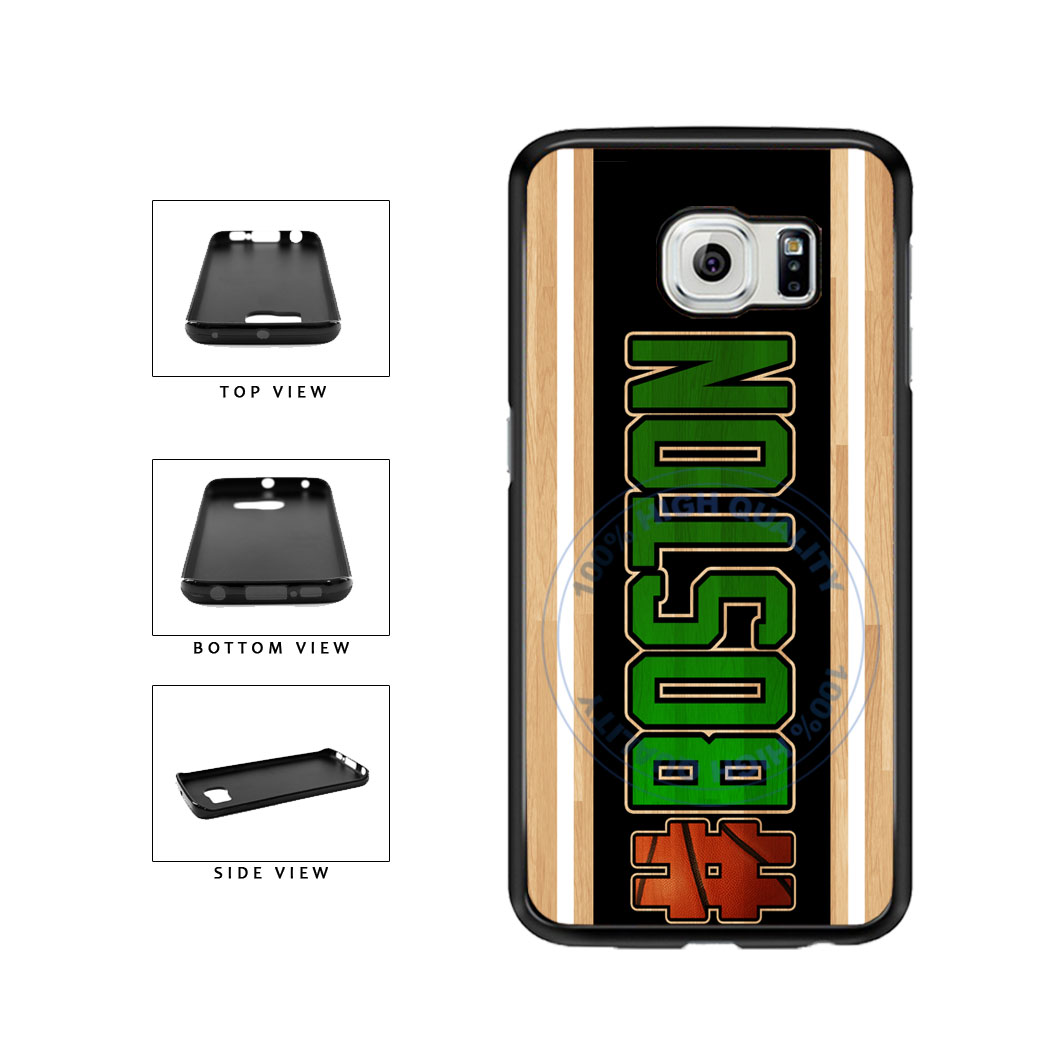 Basketball Team Hashtag Boston #Boston TPU Rubber SILICONE Phone Case Back Cover For Samsung Galaxy S6 G920 includes BleuReign(TM) Cloth and Warranty Label