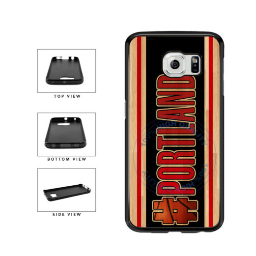 Basketball Team Hashtag Portland #Portland TPU Rubber SILICONE Phone Case Back Cover For Samsung Galaxy S6 G920 includes BleuReign(TM) Cloth and Warranty Label
