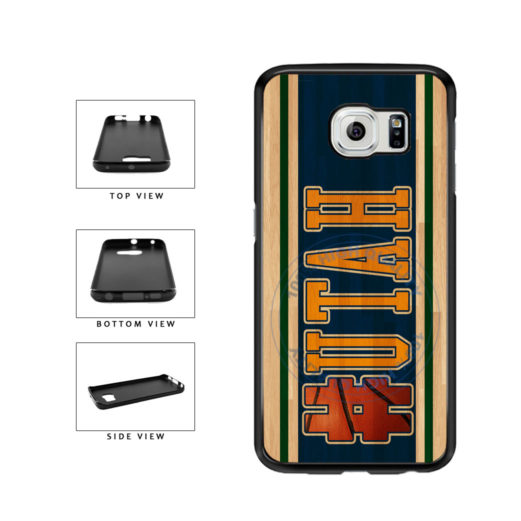Basketball Team Hashtag Utah #Utah TPU Rubber SILICONE Phone Case Back Cover For Samsung Galaxy S6 G920 includes BleuReign(TM) Cloth and Warranty Label
