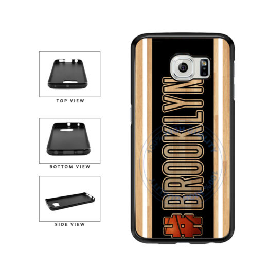 Basketball Team Hashtag Brooklyn #Brooklyn TPU Rubber SILICONE Phone Case Back Cover For Samsung Galaxy S6 G920 includes BleuReign(TM) Cloth and Warranty Label