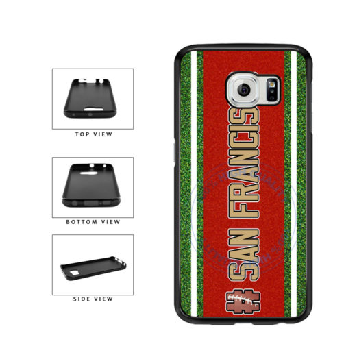 Hashtag San Francisco #SanFrancisco Football Team TPU Rubber SILICONE Phone Case Back Cover For Samsung Galaxy S6 G920 includes BleuReign(TM) Cloth and Warranty Label
