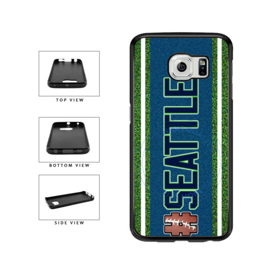 Hashtag Seattle #Seattle Football Team TPU Rubber SILICONE Phone Case Back Cover For Samsung Galaxy S6 G920 includes BleuReign(TM) Cloth and Warranty Label