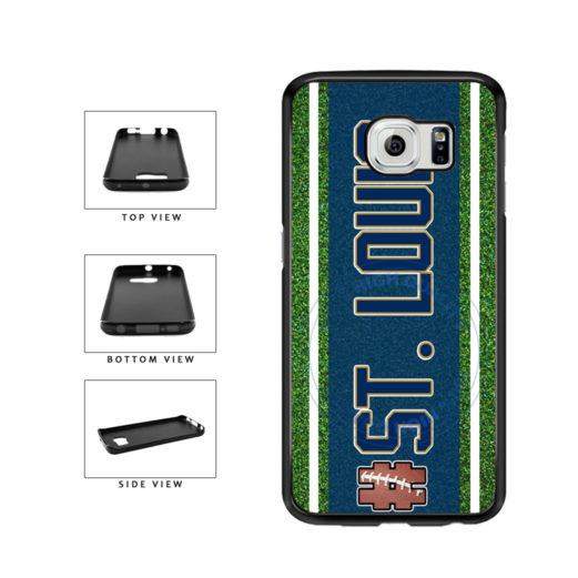 Hashtag St. Louis #StLouis Football Team TPU Rubber SILICONE Phone Case Back Cover For Samsung Galaxy S6 G920 includes BleuReign(TM) Cloth and Warranty Label