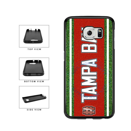 Hashtag Tampa Bay #TampaBay Football Team TPU Rubber SILICONE Phone Case Back Cover For Samsung Galaxy S6 G920 includes BleuReign(TM) Cloth and Warranty Label