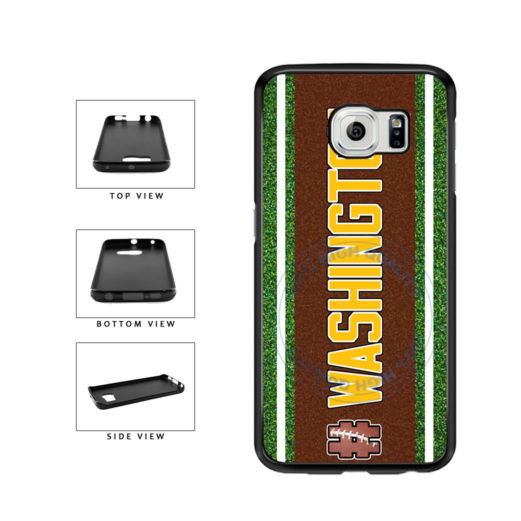 Hashtag Washington #Washington Football Team TPU Rubber SILICONE Phone Case Back Cover For Samsung Galaxy S6 G920 includes BleuReign(TM) Cloth and Warranty Label