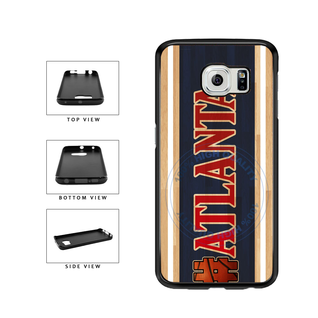 Basketball Team Hashtag Atlanta #Atlanta TPU Rubber SILICONE Phone Case Back Cover For Samsung Galaxy S6 G920 includes BleuReign(TM) Cloth and Warranty Label