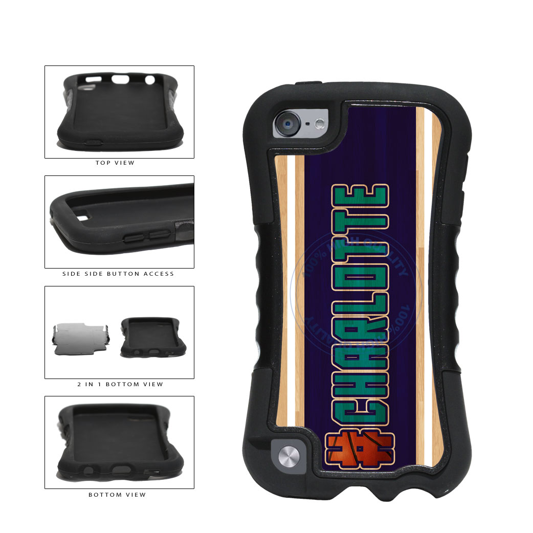 Basketball Team Hashtag Charlotte #Charlotte 2 Piece Dual Layer Phone Case Back Cover For Apple iPod Touch 5th Generation includes BleuReign(TM) Cloth and Warranty Label