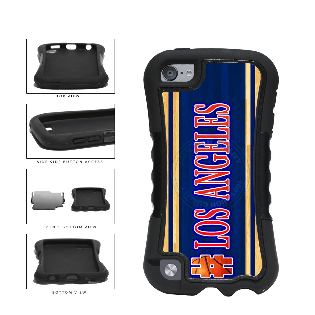 Basketball Team Hashtag Los Angeles #LosAngeles 2 Piece Dual Layer Phone Case Back Cover For Apple iPod Touch 5th Generation includes BleuReign(TM) Cloth and Warranty Label