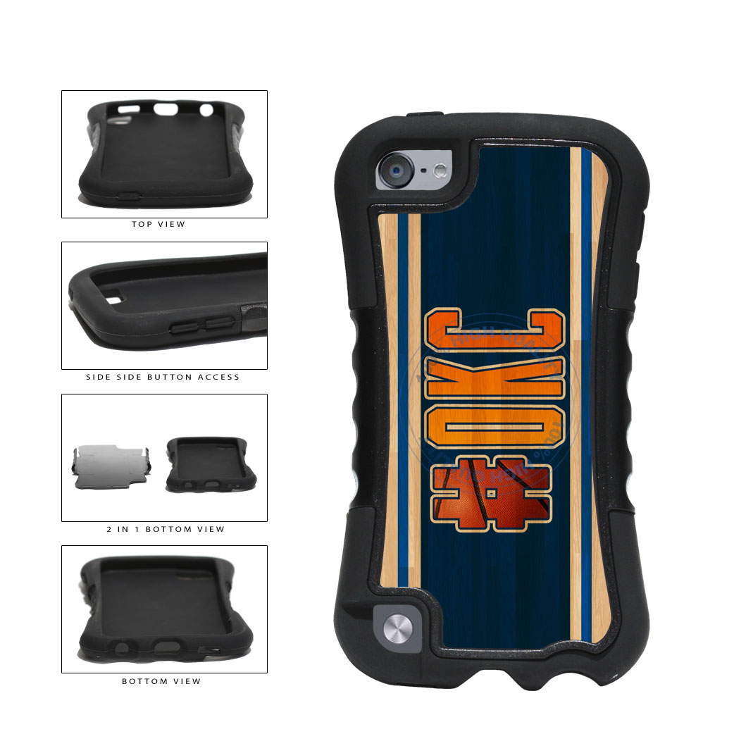 Basketball Team Hashtag Oklahoma City #OKC 2-Piece Dual Layer Phone Case Back Cover For Apple iPod Touch 5th Generation includes BleuReign(TM) Cloth and Warranty Label