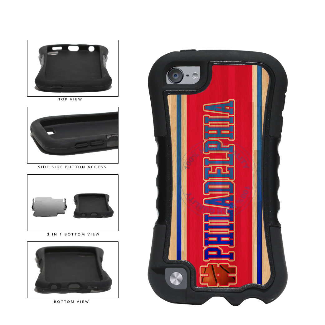 Basketball Team Hashtag Philaldelphia #Philadelphia 2-Piece Dual Layer Phone Case Back Cover For Apple iPod Touch 5th Generation includes BleuReign(TM) Cloth and Warranty Label
