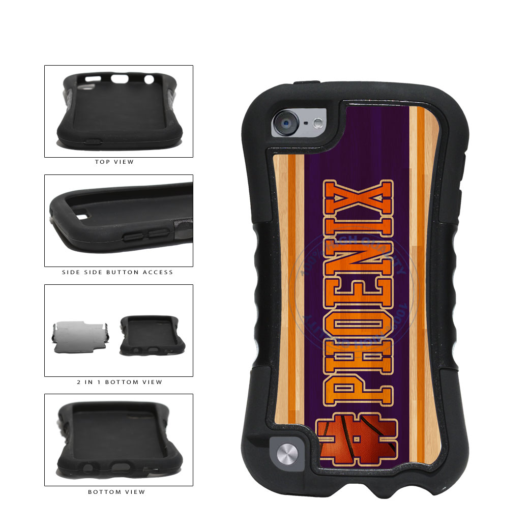 Basketball Team Hashtag Phoenix #Phoenix 2-Piece Dual Layer Phone Case Back Cover For Apple iPod Touch 5th Generation includes BleuReign(TM) Cloth and Warranty Label