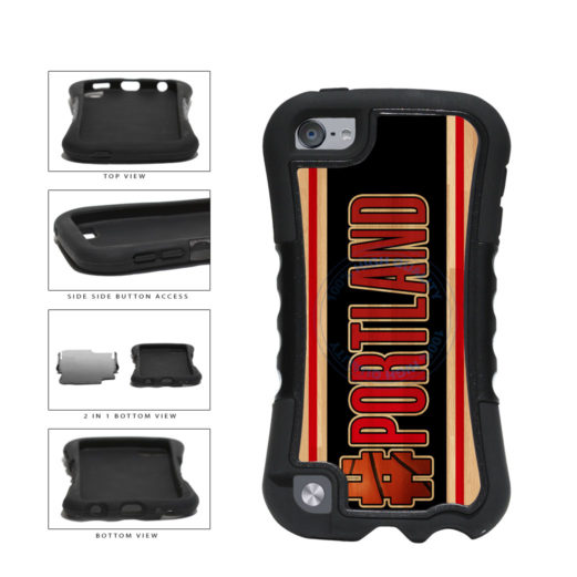 Basketball Team Hashtag Portland #Portland 2-Piece Dual Layer Phone Case Back Cover For Apple iPod Touch 5th Generation includes BleuReign(TM) Cloth and Warranty Label