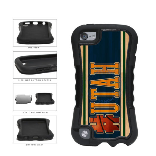 Basketball Team Hashtag Utah #Utah 2-Piece Dual Layer Phone Case Back Cover For Apple iPod Touch 5th Generation includes BleuReign(TM) Cloth and Warranty Label
