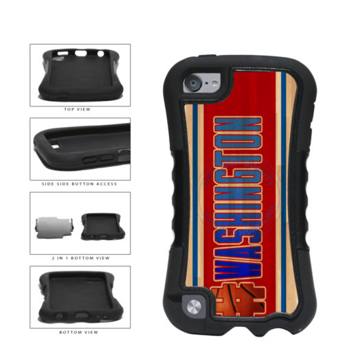 Basketball Team Hashtag Washington #Washington 2-Piece Dual Layer Phone Case Back Cover For Apple iPod Touch 5th Generation includes BleuReign(TM) Cloth and Warranty Label