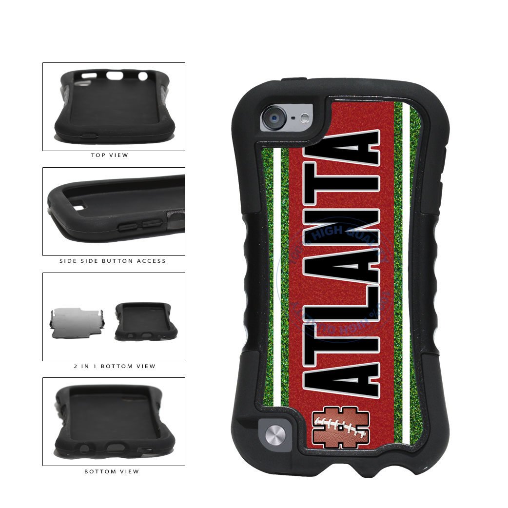 Hashtag Atlanta #Atlanta Football Team 2-Piece Dual Layer Phone Case Back Cover For Apple iPod Touch 5th Generation includes BleuReign(TM) Cloth and Warranty Label