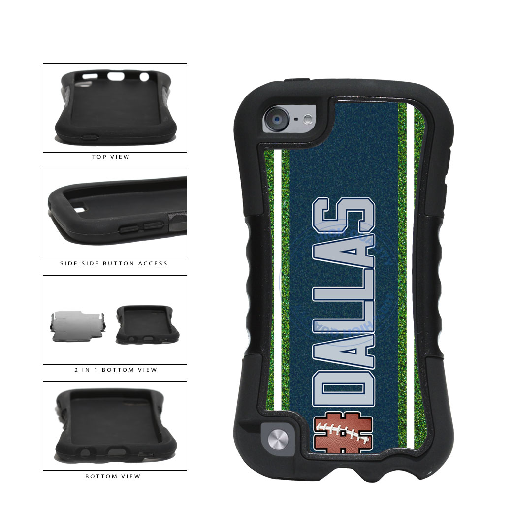 Hashtag Dallas #Dallas Football Team 2-Piece Dual Layer Phone Case Back Cover For Apple iPod Touch 5th Generation includes BleuReign(TM) Cloth and Warranty Label