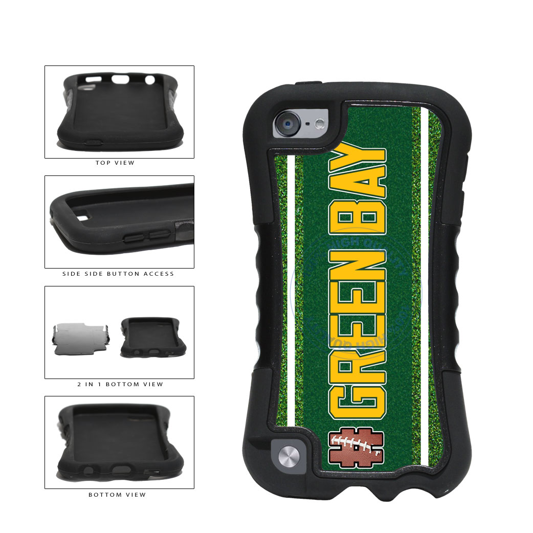 Hashtag Green Bay #GreenBay Football Team 2-Piece Dual Layer Phone Case Back Cover For Apple iPod Touch 5th Generation includes BleuReign(TM) Cloth and Warranty Label