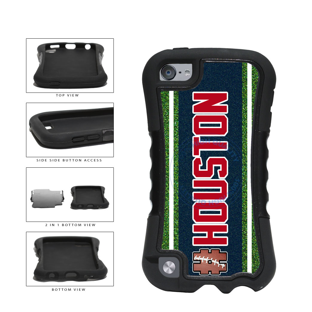 Hashtag Houston #Houston Football Team 2-Piece Dual Layer Phone Case Back Cover For Apple iPod Touch 5th Generation includes BleuReign(TM) Cloth and Warranty Label