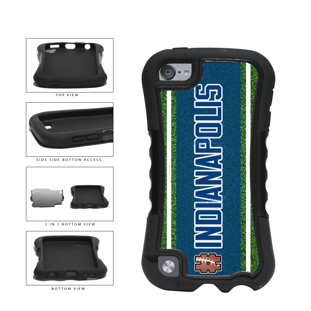 Hashtag Indianapolis #Indianapolis Football Team 2-Piece Dual Layer Phone Case Back Cover For Apple iPod Touch 5th Generation includes BleuReign(TM) Cloth and Warranty Label