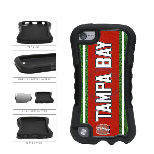 Hashtag Tampa Bay #TampaBay Football Team 2-Piece Dual Layer Phone Case Back Cover For Apple iPod Touch 5th Generation includes BleuReign(TM) Cloth and Warranty Label