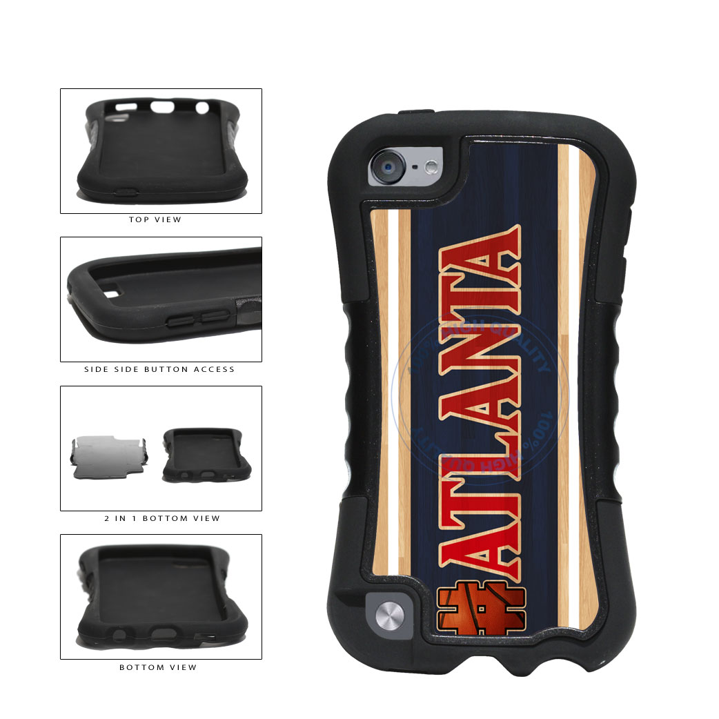 Basketball Team Hashtag Atlanta #Atlanta 2-Piece Dual Layer Phone Case Back Cover For Apple iPod Touch 5th Generation includes BleuReign(TM) Cloth and Warranty Label