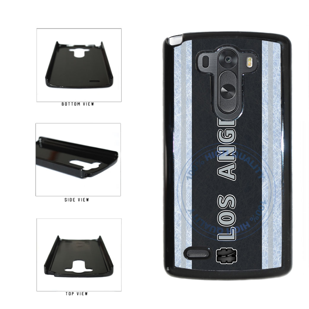 Hockey Team Hashtag Los Angeles #LosAngeles Plastic Phone Case Back Cover For LG G4 H815 includes BleuReign(TM) Cloth and Warranty Label