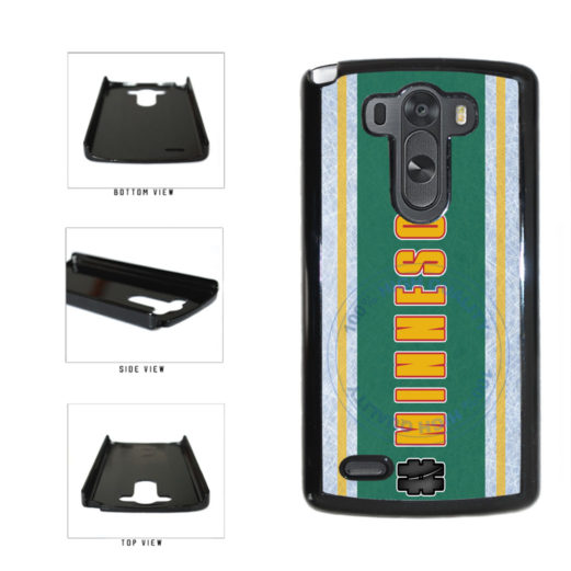 Hockey Team Hashtag Minnesota #Minnesota Plastic Phone Case Back Cover For LG G4 H815 includes BleuReign(TM) Cloth and Warranty Label