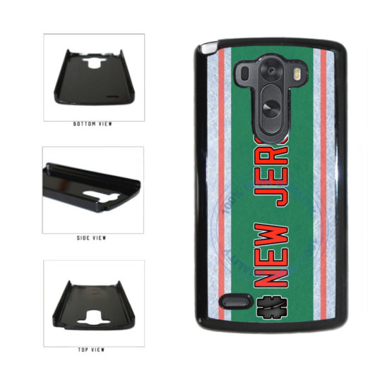 Hockey Team Hashtag New Jersey #NewJersey Plastic Phone Case Back Cover For LG G4 H815 includes BleuReign(TM) Cloth and Warranty Label