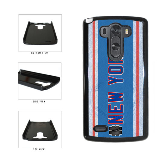 Hockey Team Hashtag New York Blue and Red #NewYork Plastic Phone Case Back Cover For LG G4 H815 includes BleuReign(TM) Cloth and Warranty Label