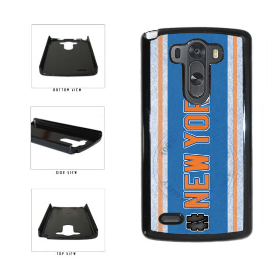 Hockey Team Hashtag New York Orange #NewYork Plastic Phone Case Back Cover For LG G4 H815 includes BleuReign(TM) Cloth and Warranty Label