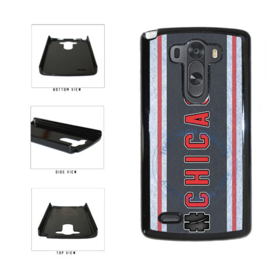 Hockey Team Hashtag Chicago #Chicago Plastic Phone Case Back Cover For LG G4 H815 includes BleuReign(TM) Cloth and Warranty Label