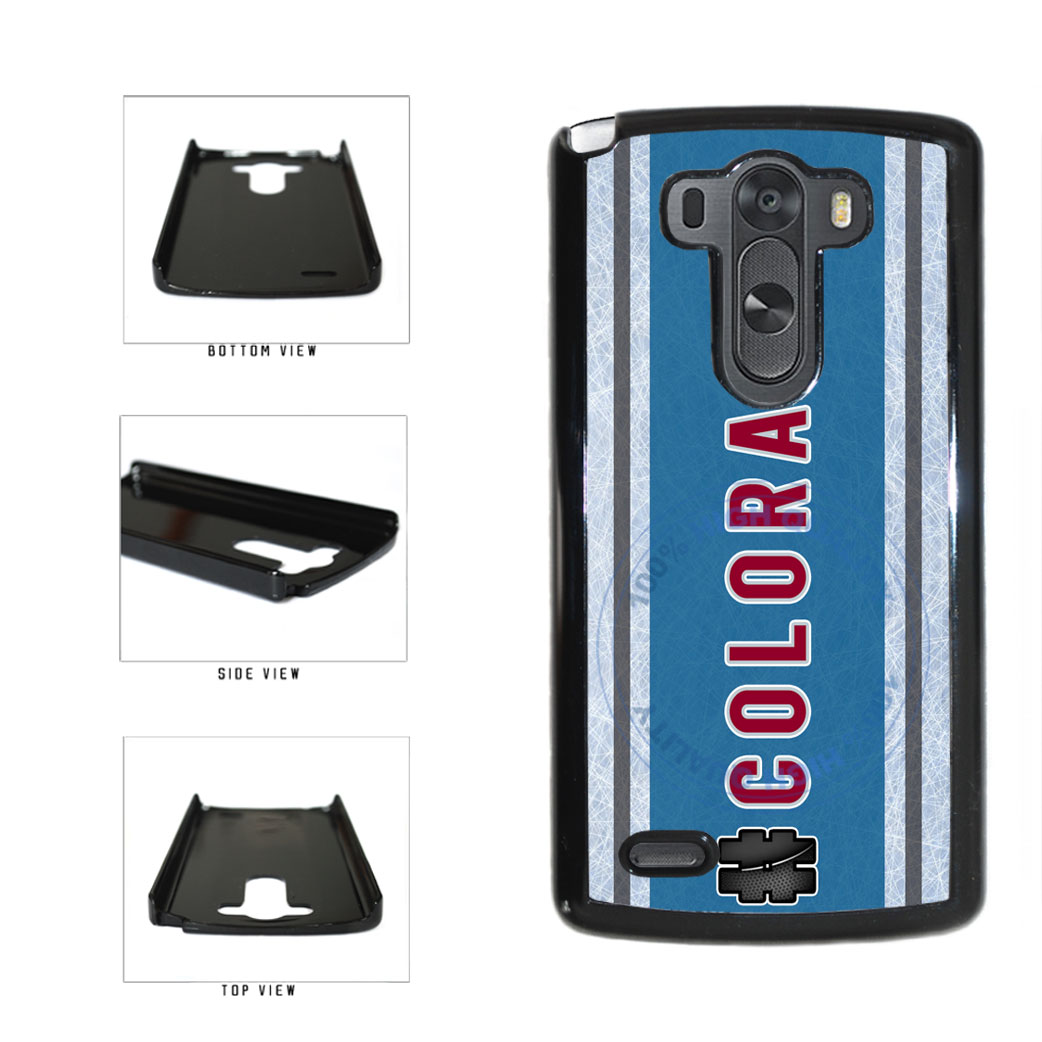 Hockey Team Hashtag Colorado #Colorado Plastic Phone Case Back Cover For LG G4 H815 includes BleuReign(TM) Cloth and Warranty Label