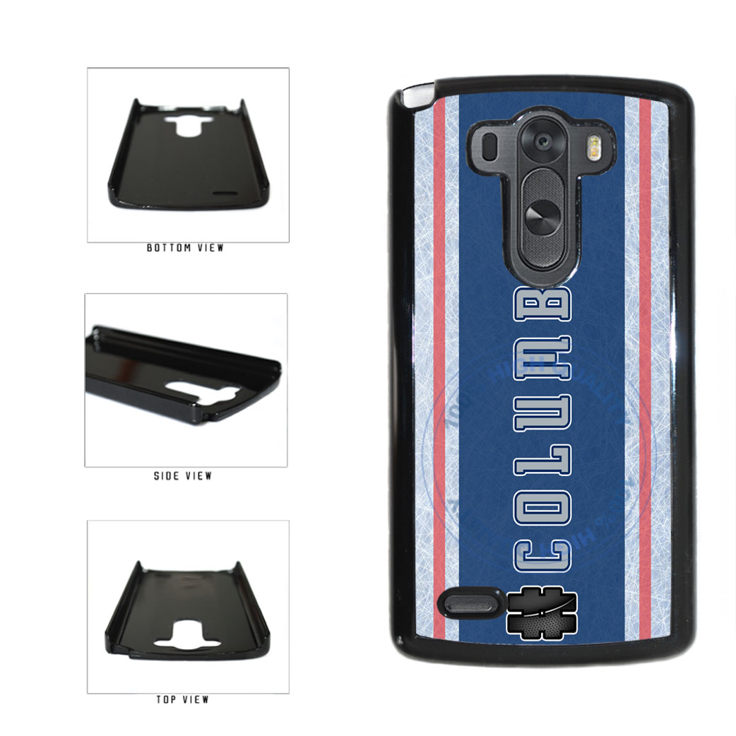 Hockey Team Hashtag Columbus #Columbus Plastic Phone Case Back Cover For LG G4 H815 includes BleuReign(TM) Cloth and Warranty Label