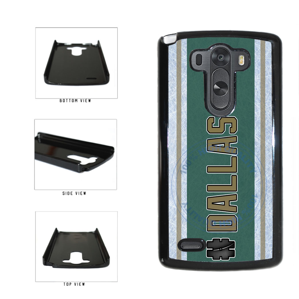 Hockey Team Hashtag Dallas #Dallas Plastic Phone Case Back Cover For LG G4 H815 includes BleuReign(TM) Cloth and Warranty Label