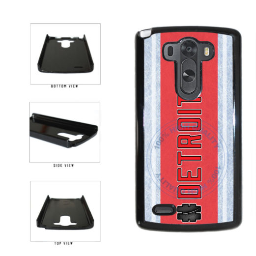 Hockey Team Hashtag Detroit #Detroit Plastic Phone Case Back Cover For LG G4 H815 includes BleuReign(TM) Cloth and Warranty Label