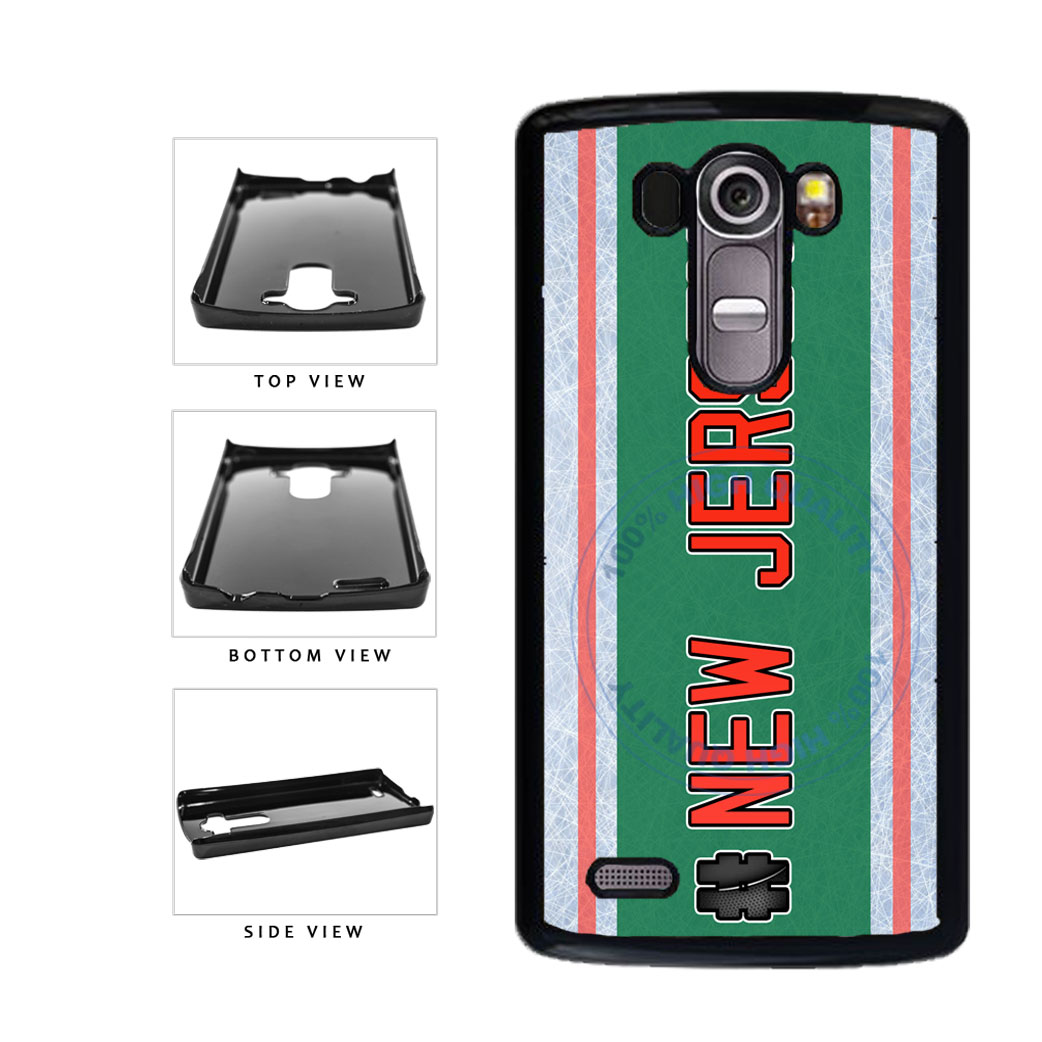 Hockey Team Hashtag New Jersey #NewJersey Plastic Phone Case Back Cover For LG G3 D855 includes BleuReign(TM) Cloth and Warranty Label