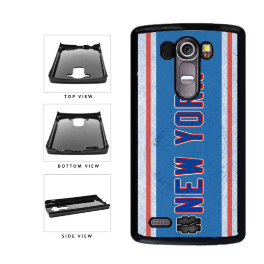 Hockey Team Hashtag New York Blue and Red #NewYork Plastic Phone Case Back Cover For LG G3 D855 includes BleuReign(TM) Cloth and Warranty Label