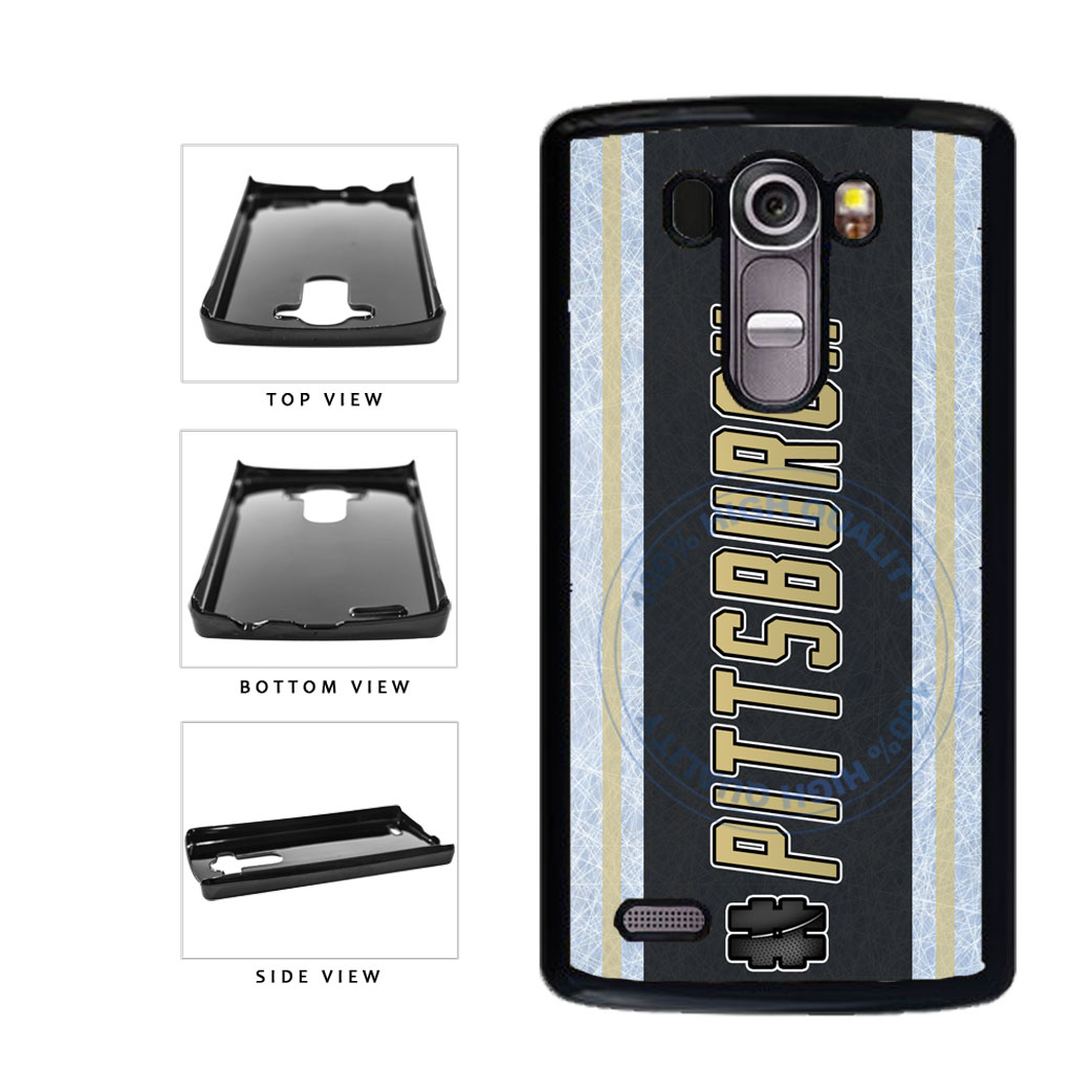 Hockey Team Hashtag Pittsburgh #Pittsburgh Plastic Phone Case Back Cover For LG G3 D855 includes BleuReign(TM) Cloth and Warranty Label