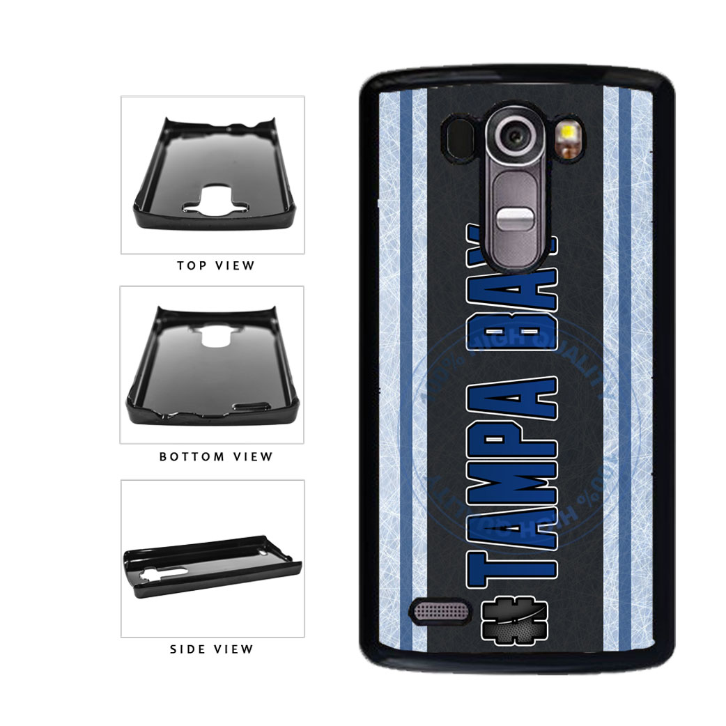 Hockey Team Hashtag Tampa Bay #TampaBay Plastic Phone Case Back Cover For LG G3 D855 includes BleuReign(TM) Cloth and Warranty Label