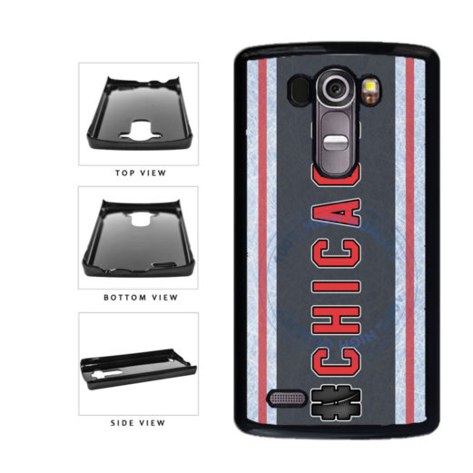 Hockey Team Hashtag Chicago #Chicago Plastic Phone Case Back Cover For LG G3 D855 includes BleuReign(TM) Cloth and Warranty Label