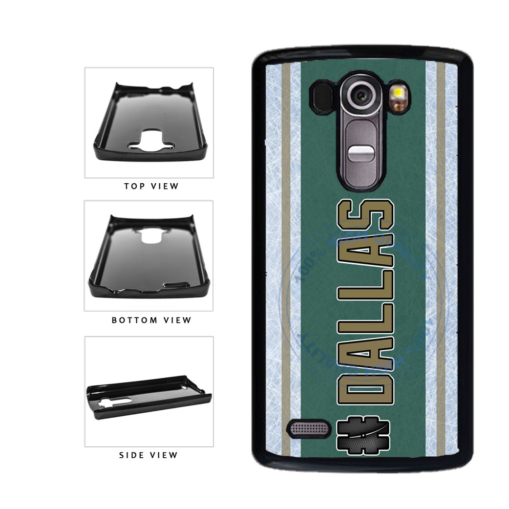 Hockey Team Hashtag Dallas #Dallas Plastic Phone Case Back Cover For LG G3 D855 includes BleuReign(TM) Cloth and Warranty Label