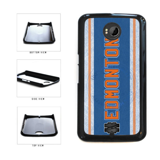 Hockey Team Hashtag Edmonton #Edmonton Plastic Phone Case Back Cover For Google Nexus 6 includes BleuReign(TM) Cloth and Warranty Label