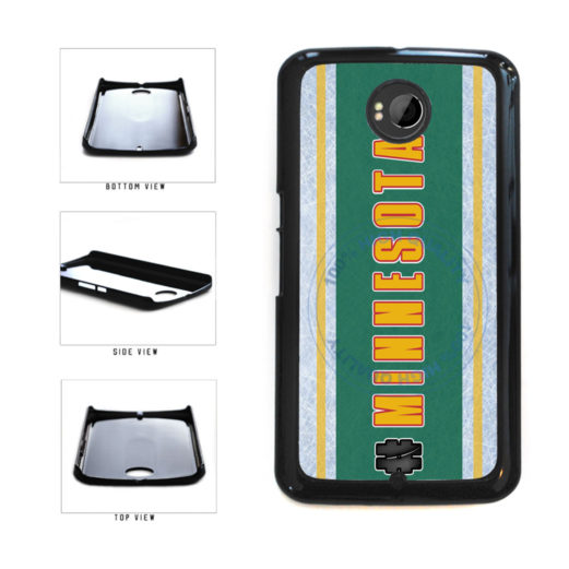 Hockey Team Hashtag Minnesota #Minnesota Plastic Phone Case Back Cover For Google Nexus 6 includes BleuReign(TM) Cloth and Warranty Label